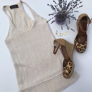 Club Monaco Linen Knit Tank Top